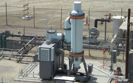 The FlexEnergy power generation system creates electricity and heat from gases that would otherwise require expensive treatment processes to minimize their impact on the environment.